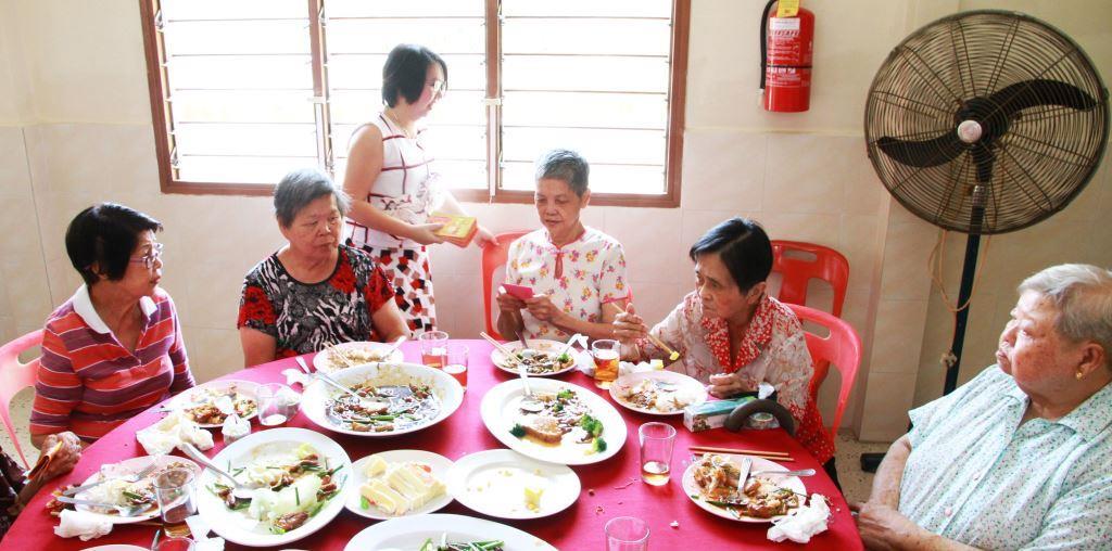Smiles back to society, senior citizen home