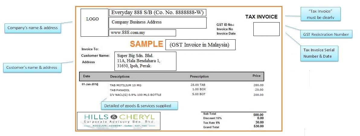 Standard Tax Invoice