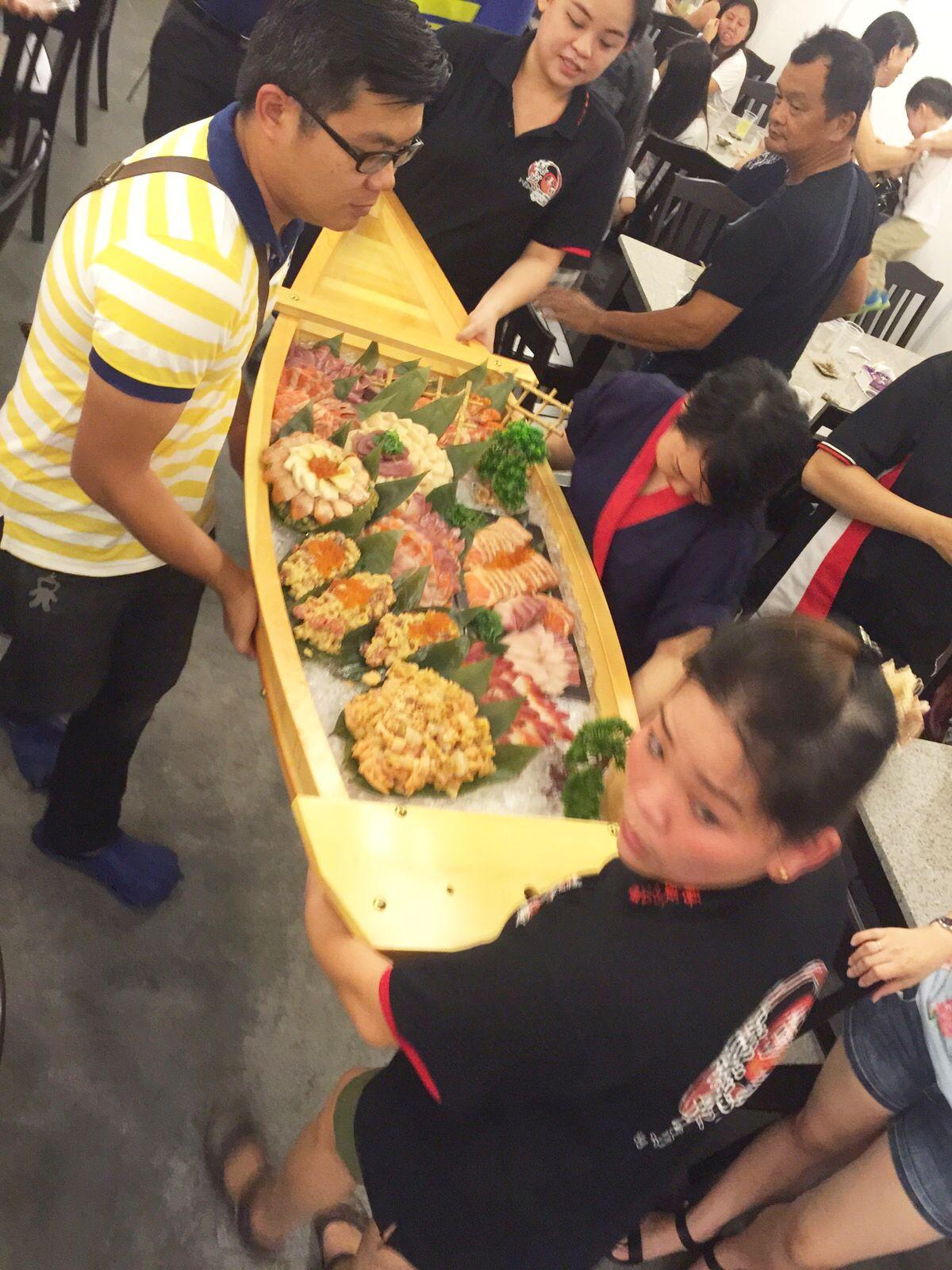 heavy boat, ice, japanese food