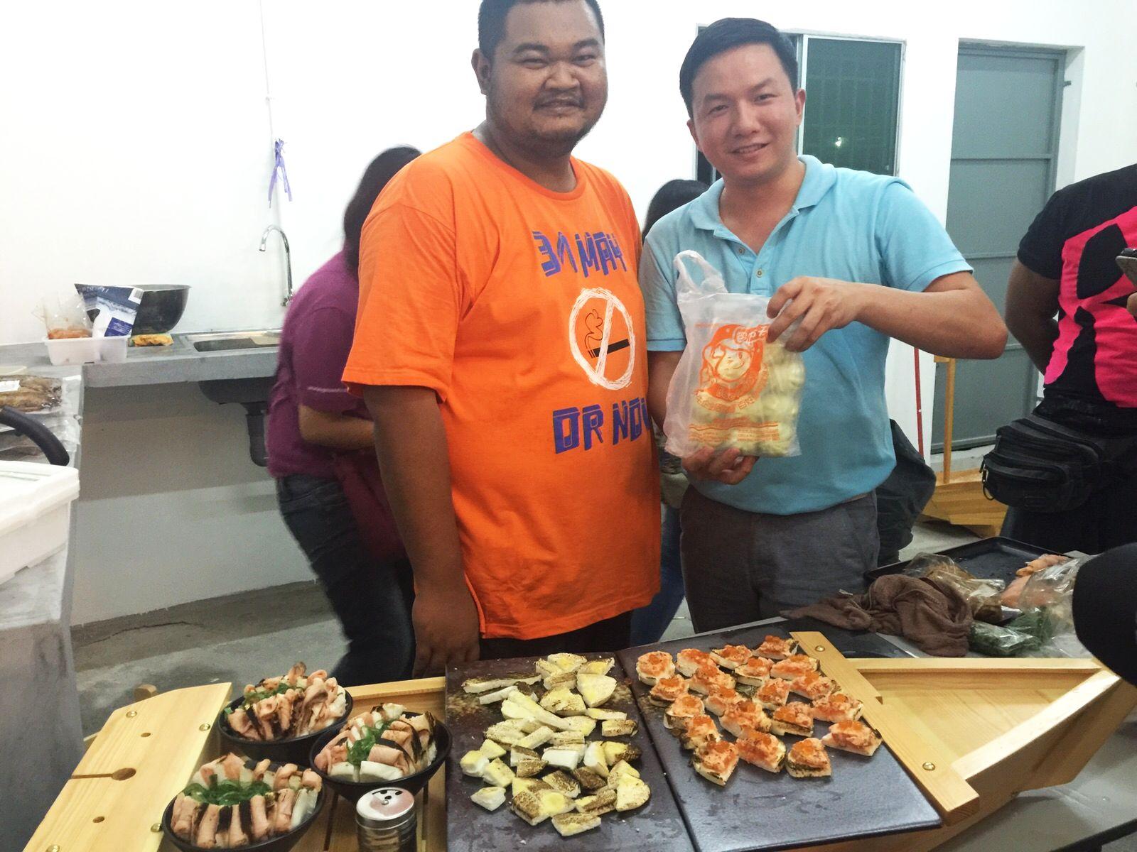 Bao today, sushi bao, fire,