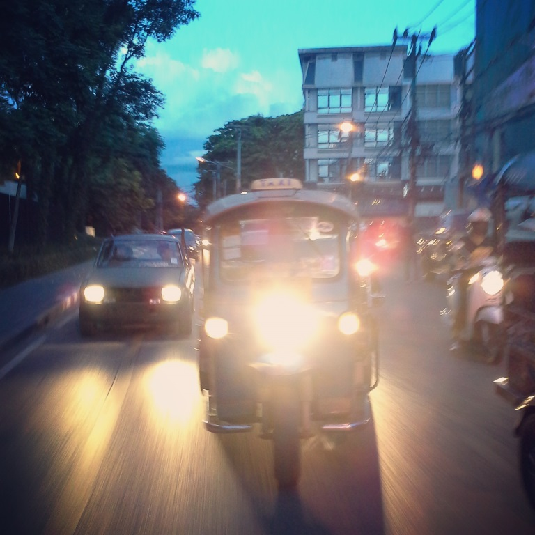 The famous public transport in Chiang Mai, Thailand