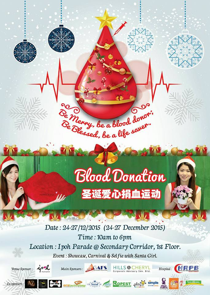 Be Merry Be A Blood Donor Event Ipoh Parade Dec 2015