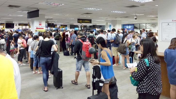 Immigration Hall at Phuket.
