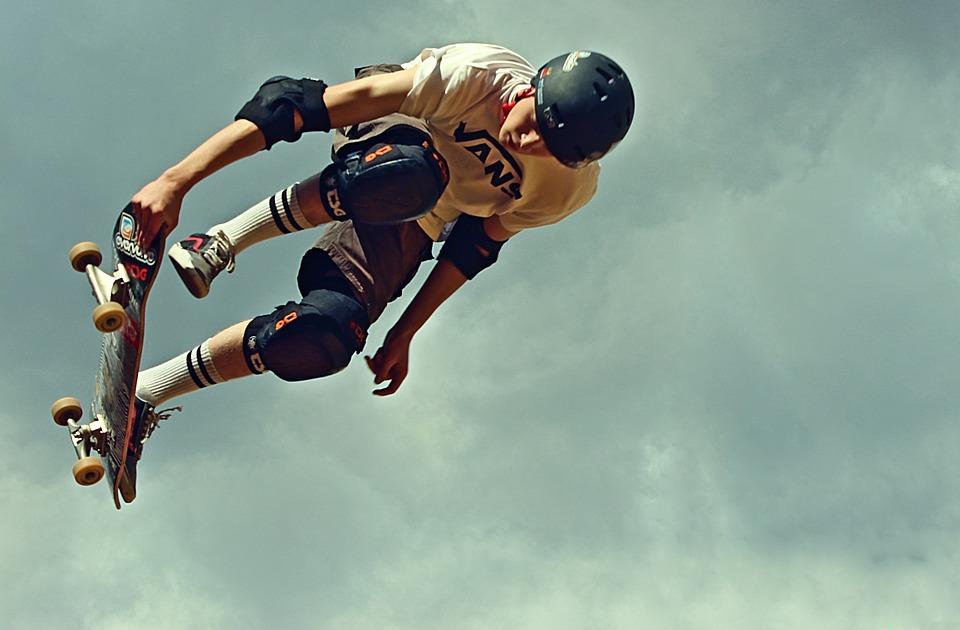 skateboard, vans