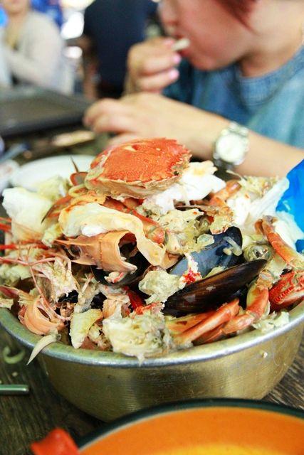 Crab leftovers
