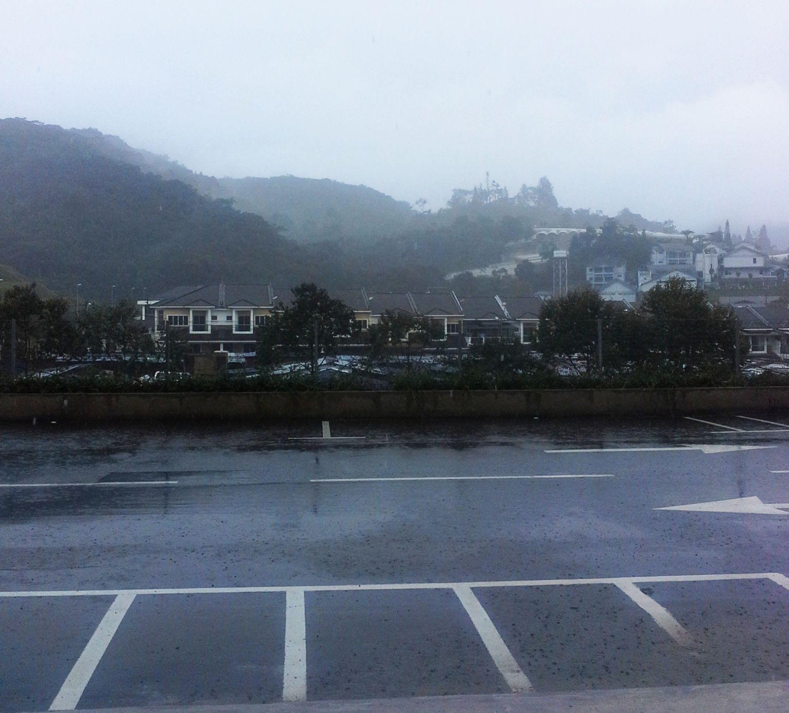 Raining at Cameron